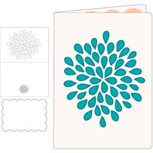 flower cut out card