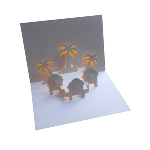 paradise popup card