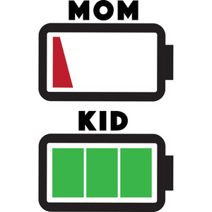 mom and kid battery levels