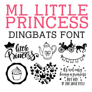 ml little princess dingbats font