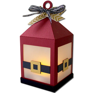 santa belt hanging tea light lantern