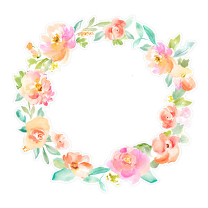 spring watercolor flower wreath