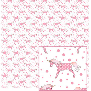 pink unicorn pattern