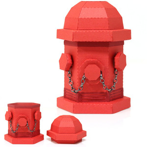 3d fire hydrant
