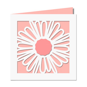 daisy cutout card