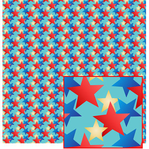 stars on blue pattern