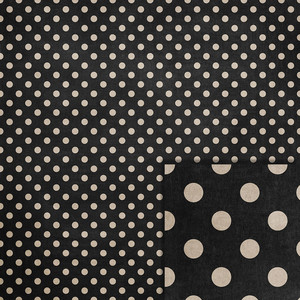 halloween black polka dots background paper
