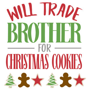 trade brother christmas cookies
