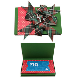 gift card box with bow
