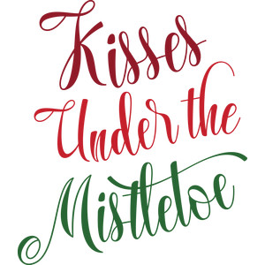 kisses under the mistletoe