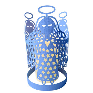 angels papercut lantern