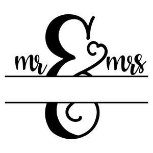 mr and mrs split monogram frame design