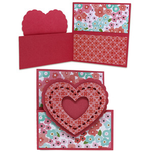 scallop layered heart dutch door card
