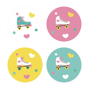 roller skating stickers