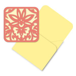 lotus heart mini card and envelope