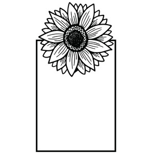 sunflower rectangle frame