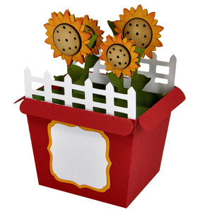 sunflower card in a box
