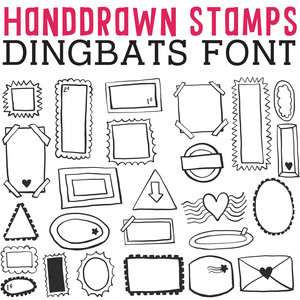 cg handdrawn stamps dingbats