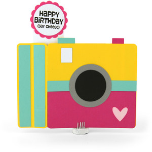 6x6 wiper card birthday camera