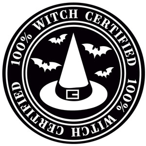 100% witch certified label