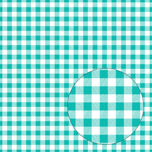 aqua blue buffalo plaid seamless pattern