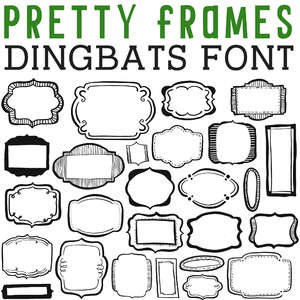 cg pretty frames dingbats