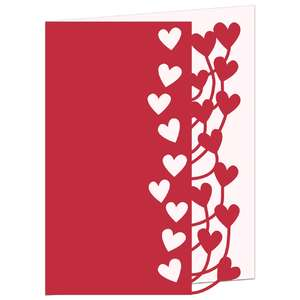 tangled hearts lace edged card