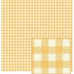 maize and cream woven plaid-look pattern