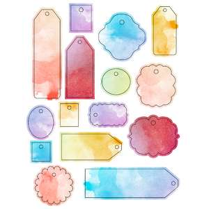 ml watercolor tag stickers