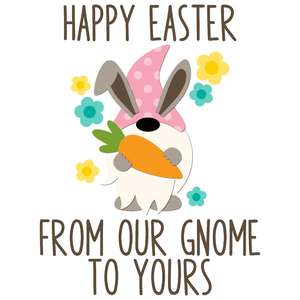 happy easter from our gnome to yours