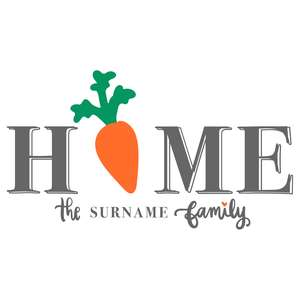 home carrot porch sign