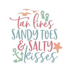 tan lines sandy toes and salty kisses