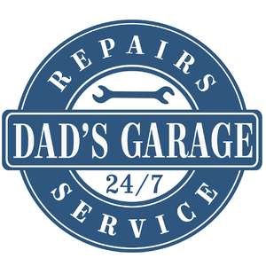 dad's garage label
