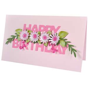 3d floral happy birthday daisies
