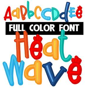 heat wave color font