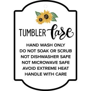 care instructions sunflower tag