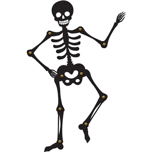 poseable halloween skeleton