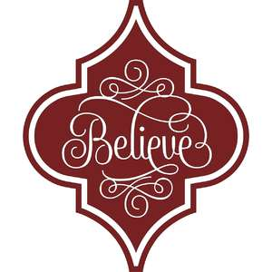 believe arabesque christmas ornament