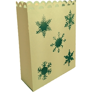 multi snow flake luminaria