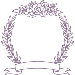 flower leaf monogram frame