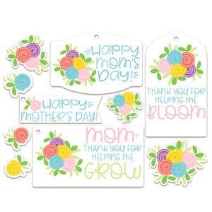 mother's day tags/sticker set
