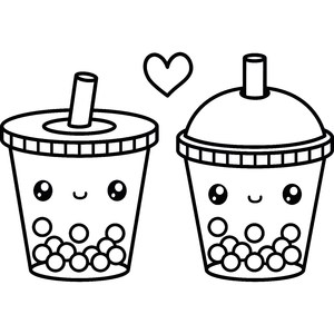 cute bubble tea