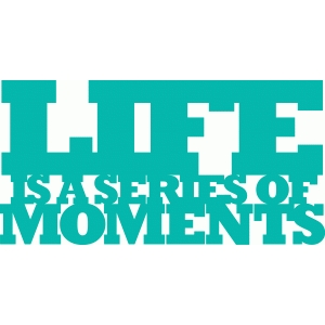 'life is a series of moments' phrase