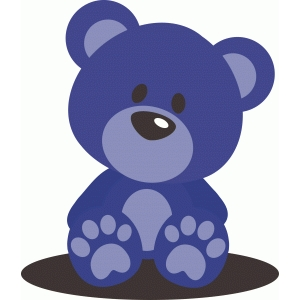 cute baby boy blue teddy bear
