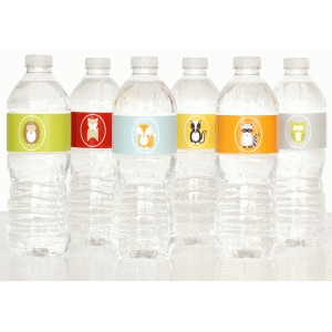 woodland water bottle labels