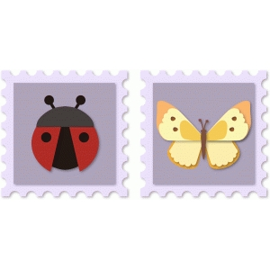 ladybug and butterfly stamps