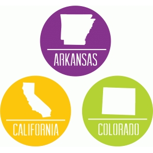 state badges - ar ca co