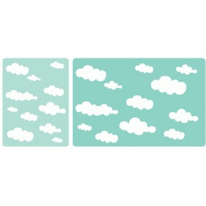 set of 2 cloud journaling cards