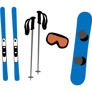 snowboarding/skiing equipment