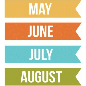 months may, june, july, august